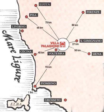 Tuscany Countryside Near Volterra Villa Palagione How To Reach - Pisa bus map